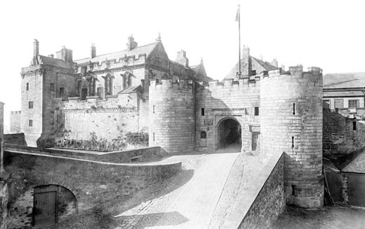 Stirling, Castle 1899 : Stock Photo