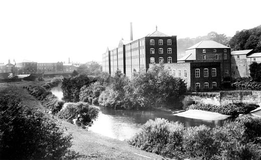 Congleton, Old Mill 1902 : Stock Photo