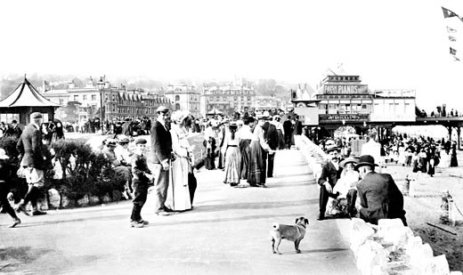 Teignmouth, the Parade 1903 : Stock Photo