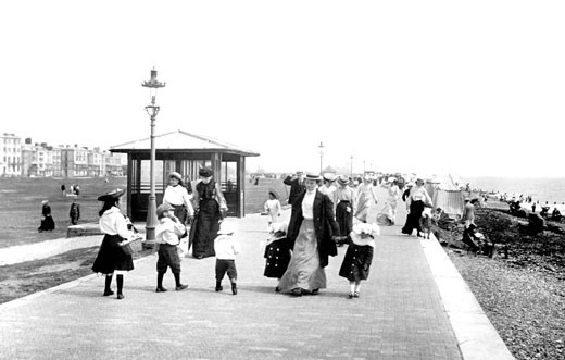 Littlehampton, Promenade 1903 : Stock Photo
