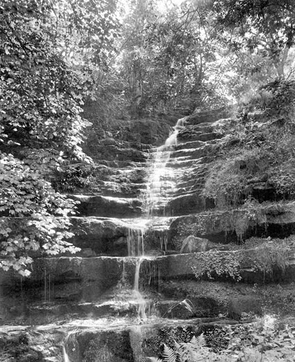 Askrigg, Low Force, Raydale 1911 : Stock Photo