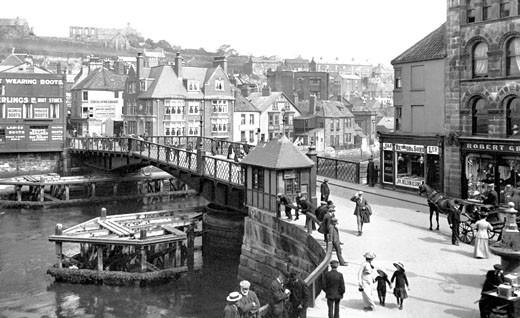 Whitby, the Bridge 1913 : Stock Photo