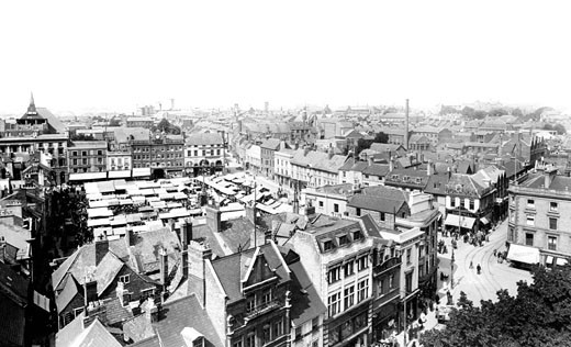 Northampton, from All Saints Tower 1922 : Stock Photo
