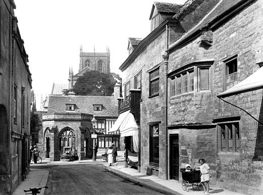 Sherborne, Long Street 1924 : Stock Photo