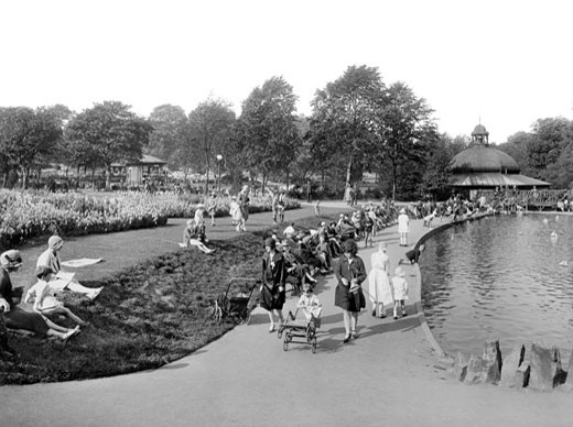 Harrogate, Valley Gardens 1928 : Stock Photo
