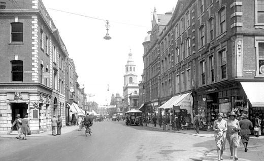 Worcester, High Street 1931 : Stock Photo