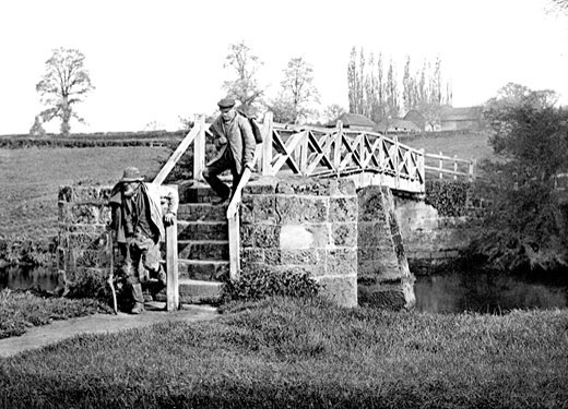 the Old Footbridge c1890 : Stock Photo