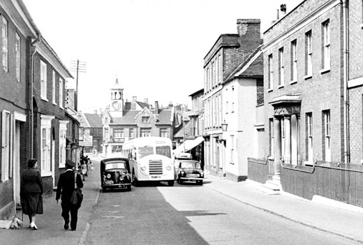 Ampthill, Church Street c1955 : Stock Photo