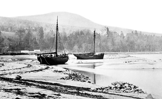 Arran, Brodick Castle and the Bay 1890 : Stock Photo