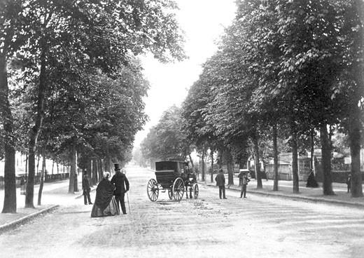 Cheltenham, Promenade c1865 : Stock Photo
