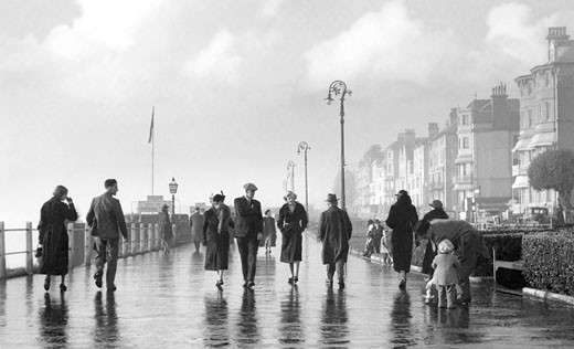 Folkestone, The Leas after the storm c1940 : Stock Photo