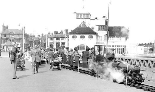 Lowestoft, the Pier Miniature Railway c1955 : Stock Photo