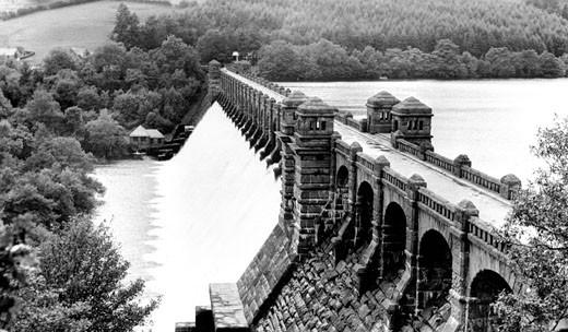 Llanwddyn, the Lake & Vyrnwy Dam c1960 : Stock Photo