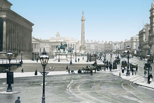 Liverpool, St George's Plateau c1881 : Stock Photo