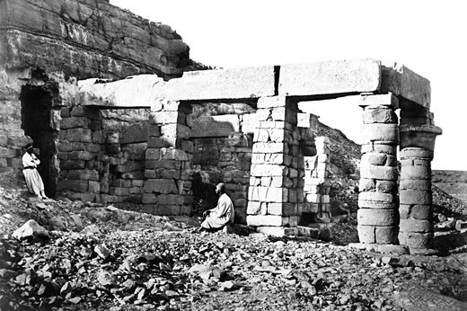 Nubia, the Temple of Gerf Hossayn c1857 : Stock Photo