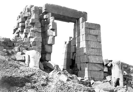 Thebes, the Granite Pylon c1857 : Stock Photo