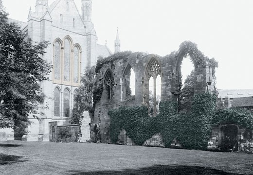 Worcester, the Monastic Ruins 1891 : Stock Photo