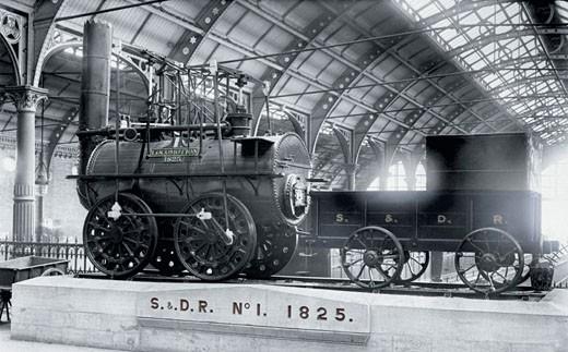 Darlington, S & D Railway, Number One Engine 1892 : Stock Photo