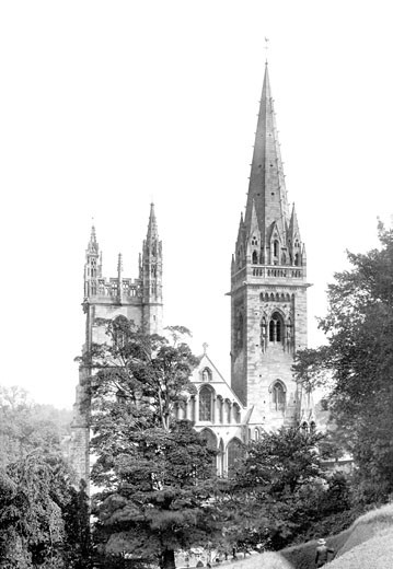Llandaff, the Cathedral, the West Front 1893 : Stock Photo