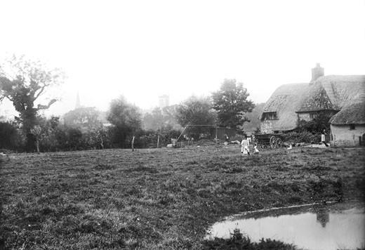 Dorchester, Farm Cottages 1894 : Stock Photo