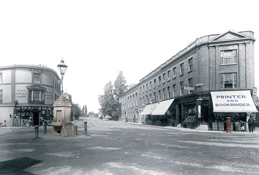 Staines, Clarence Street 1895 : Stock Photo
