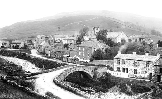 Muker, Village 1896 : Stock Photo