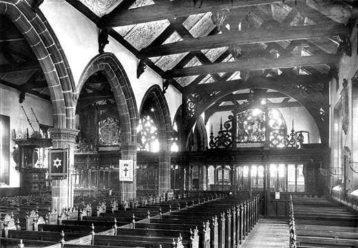 Leeds, St John's Church interior 1897 : Stock Photo