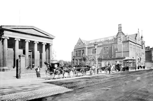 Worcester, Shire Hall and Victoria Institute 1899 : Stock Photo