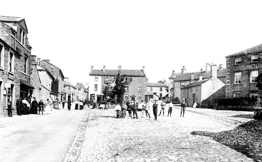 Grassington, the Square 1900 : Stock Photo