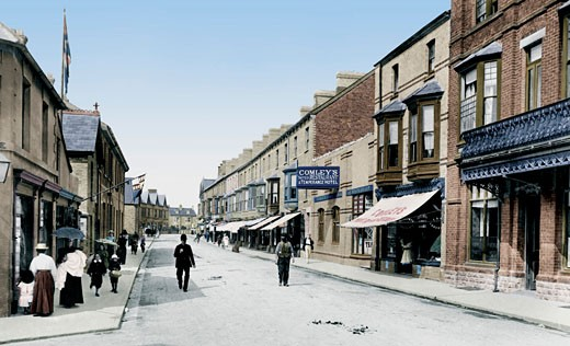 Porthcawl, John Street 1901 : Stock Photo