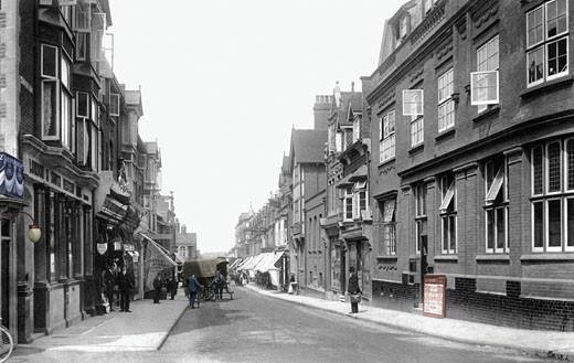 Woking, Chertsey Road 1902 : Stock Photo