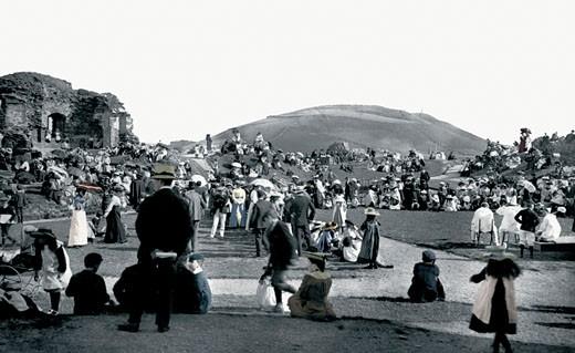 Aberystwyth, the Castle 1903 : Stock Photo