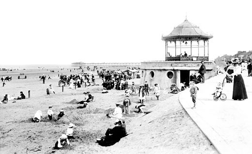 Redcar, the Bandstand 1906 : Stock Photo