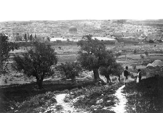 Jerusalem, from the Mount of Olives 1859 : Stock Photo