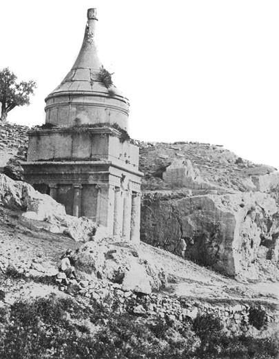 Jerusalem, Absalom's Tomb c1857 : Stock Photo
