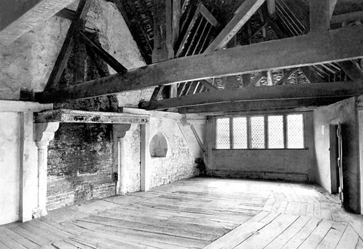 Stokesay, Castle, Room in the north Tower 1910 : Stock Photo