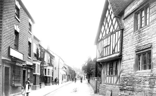 Bidford-on-Avon, High Street 1910 : Stock Photo