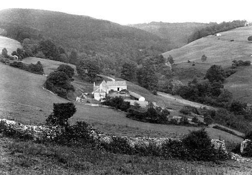 Slad, Trillgate Farm 1910 : Stock Photo