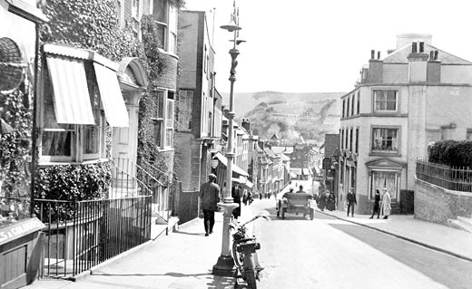 Lewes, School Hill 1921 : Stock Photo