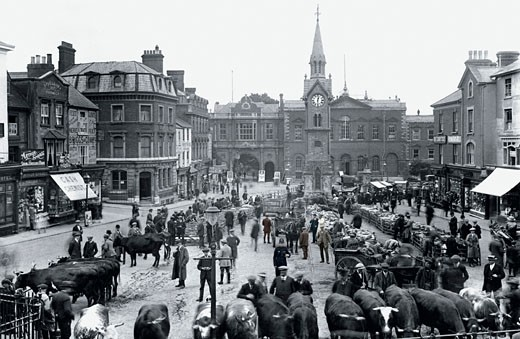 Aylesbury, Market Square 1921 : Stock Photo
