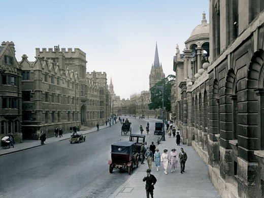 Oxford, High Street 1922 : Stock Photo
