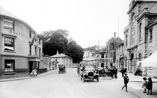 Brixham, Bolton Cross 1922 : Stock Photo