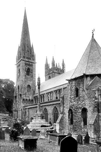 Llandaff, Cathedral 1925 : Stock Photo