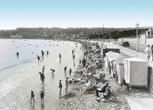 Swanage, the Beach 1925 : Stock Photo