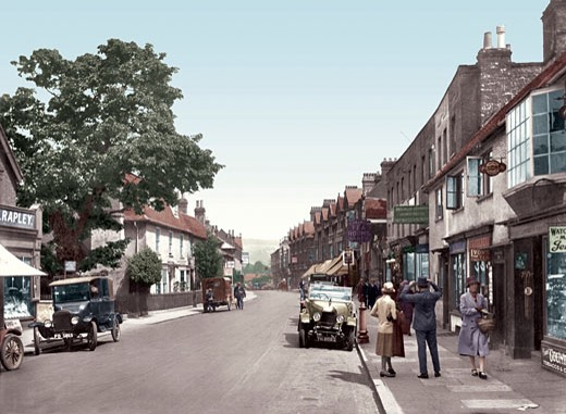 Dorking, High Street 1927 : Stock Photo