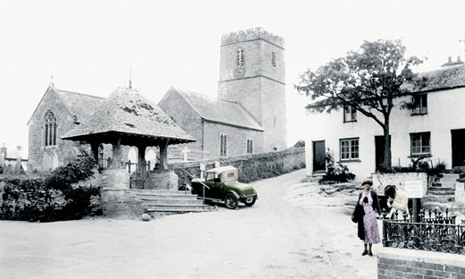 Mortehoe, the Church of St Mary Magdalene 1935 : Stock Photo