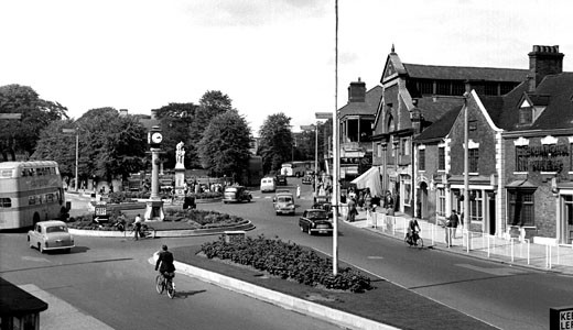 Cannock, Town Centre c1955 : Stock Photo