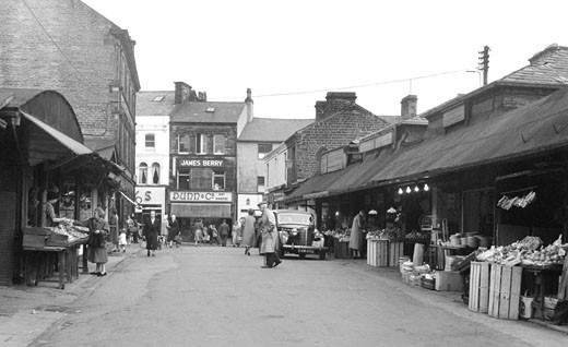 Keighley, Market Street 1960 : Stock Photo