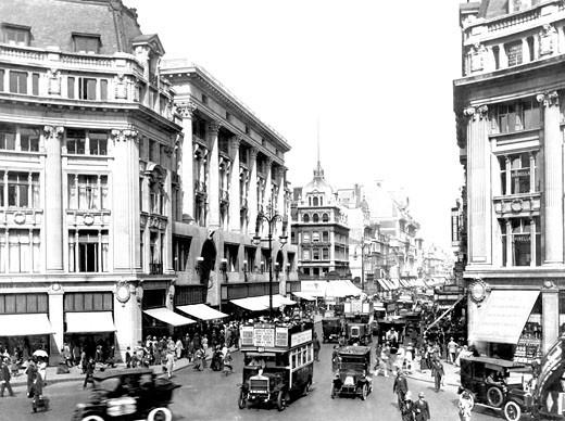 London, Oxford Circus c1925 : Stock Photo