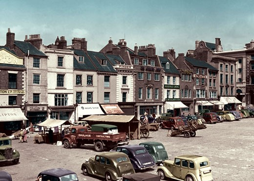 Northampton, Market Place c1950 : Stock Photo